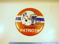 VINTAGE 1980's NEW ENGLAND PATRIOTS PIN BACK BUTTON HELME 6 inch RARE