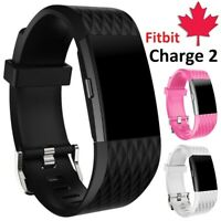 For Fitbit Charge 2 Replacement Silicone Wristband Sport Band Strap Small Large