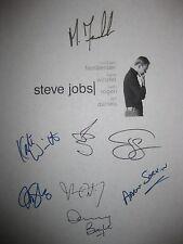 Steve Jobs Signed Film Script X8 Michael Fassbender Kate Winslet Seth Rogen rpnt