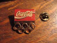 Coca Cola Olympics Pin - Vintage Coke Olympic Games Soda Pop Lapel Hat Sports