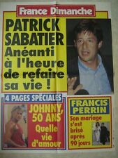 AFFICHE PROMO FRANCE DIMANCHE JOHNNY HALLYDAY PERRIN