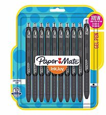 BRAND NEW Paper Mate Inkjoy Gel Pens, 0.5mm, Fine Point, BLACK, 10-Pack