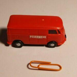 Vintage Red Tonka Fire engine Volkswagen Feuerwehr VW Bus KENTOYS 1999