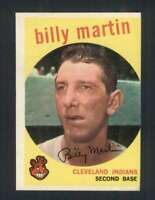 1959 Topps #295 Billy Martin EXMT/EXMT+ Indians 122957