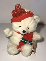 Vtg 1986 Kmart Our Christmas bear stuffed animal Teddy plush toy Xmas Doll Nwt