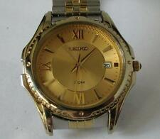 Seiko 7n42 Quartz Date Watch with Expandable Bracelet