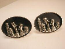 -Barbershop Quartet Vintage VERY LARGE HICKOK USA Cuff Links spebsqsa