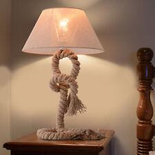 Taulampe Tischlampe Tischleuchte Seil Lampenschirm Industrie Vintage