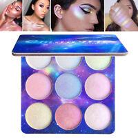 9 Colors Contour Face Glow Concealer Highlight Giltter Eyeshadow Makeup Palette
