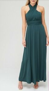 V by Very Bridesmaid Ity Multiway Dress - Green Size 14