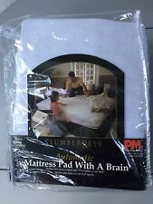 Slumber Rest Luxury White Full Automatic Mattress Pad With a Brain