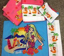 Barbie  Hawaiian Sheet Set RARE  Don River 4 Piece Full Bed Sheets Set