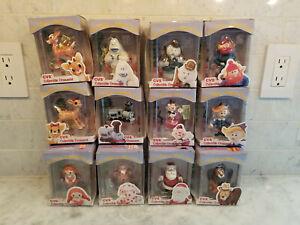 NOS Vintage Enesco Rudolph & Island Of Misfit Toys Christmas Ornaments - CVS '99