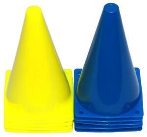 Pferdesport - Pylonen, 10 Stück (5x gelb, 5x blau) - 23 cm Höhe