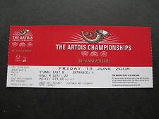 ARTOIS CHAMPIONSHIP AT QUEENS CLUB 13/06/2008 UNUSED TICKET