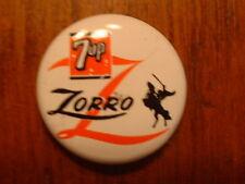 Vintage 1957 Walt Disney 7 Up Zorro Pin Back Button