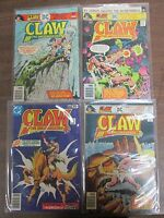 Claw The Unconquered Comic Books Lot of 4 Issues, DC Comics COMIC2