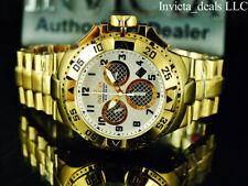 Invicta 50mm Excursion TWISTED METAL Swiss Chrono High Polish 18K Gold IP Watch