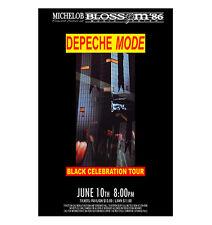 Depeche Mode 1986 Cleveland Concert Poster