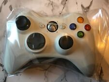 Official Microsoft Xbox 360 Controller White Wireless, New Thumb Stick (VGC)