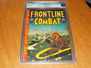 Frontline Combat #14 (1953) - CGC 4.5 ow pages - Wally Wood Cover - EC COMICS