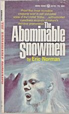 THE ABOMINABLE SNOWMEN (1969) Eric Norman- Award Books #A479S -Vintage Paperback