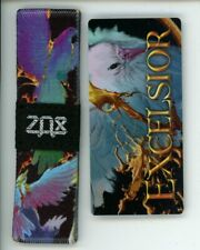 Large ZOX Silver Strap EXCELSIOR Wristband with Card Reversible