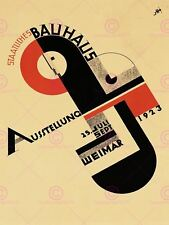 EXHIBITION BAUHAUS WEIMAR ICON GERMANY VINTAGE RETRO ADVERTISING POSTER 1642PYLV