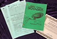 Star Trek Voyager Script SIGNED - Mulgrew, Phillips & Picardo & Call Sheet, CoA!