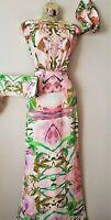 Bnwt Ted Baker Rare Darcia Chiffon Jungle Orchid Floral Maxi Evening Dress 8 TB1