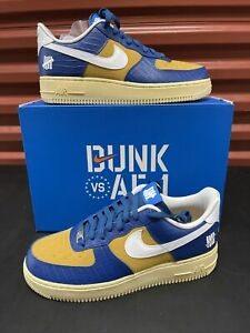 New Nike Air Force 1 Low SP X Undefeated Size 9.5 'Court Blue' (DM8462-400)