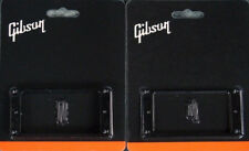 GIBSON Black Pickup Rings Set Les Paul Humbucker w/screws Genuine® Made in USA