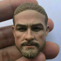 1/6 Lost Z City Charlie Hunnam Head Carving Fit 12'' Male Action Figure Body