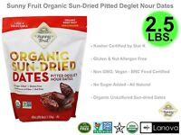Sunny Fruit Organic Sun-Dried Pitted Deglet Nour Dates 40 oz 2.5 LBS All Natural
