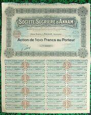 Indochine Epoque Coloniale - Saïgon - Beau Décor Ste Sucrière d'Annam de 1929