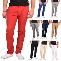 Mens Chino Jeans Stretch Cotton Regular Fit Slim Pants Trousers Jack South Chino