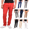 Mens Chinos Jeans Stretch Cotton Regular Fit Slim Pants Trousers Chino All Waist