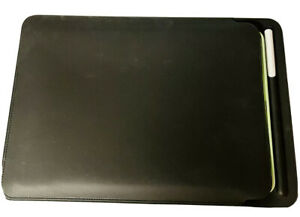 Genuine Leather Tablet Case Black With Pen Holder. 12 X 8inches.