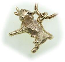 colgante signo del Zodíaco tauro Oro Real 333 MACIZO 8kt Signos del zodiaco