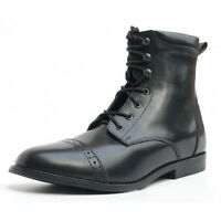 Adults Horse Riding Windsor Lace boots- all sizes black leather jodhpur boots
