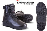 MILITARY ARMY SWAT QUALITY LEATHER COMBAT PATROL BOOT TACTICAL BLACK CADET NEW