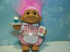 "ICE CREAM SUNDAE WAITRESS  - 5"" Russ Troll Doll - NEW IN ORIGINAL WRAPPER"