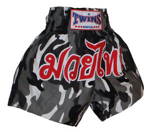 Boxing Shorts Thai Muay Thai TWINS Army Cotton Camouflage all Sizes