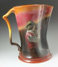 """Royal Bayreuth Creamer Man with Pipe 7 1/4"""" Tall Large Pitcher w/ Blue Mark"""