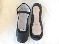BLOCH Ballettschläppchen Dansoft Leder Lederinnensohle schwarz für breite Füße