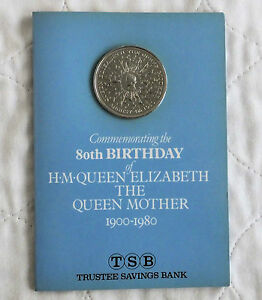 1980 QUEEN MOTHER 80th CROWN TSB PRESENTATION PACK