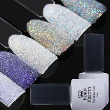 5pcs Nail Glitter Powder Shell UV Gel Polish White Black Soak off BORN PRETTY