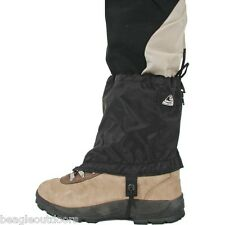 "NEW Liberty Mountain 6"" Nylon Black Ankle Gaiter Ultralight Waterproof Gaiters"