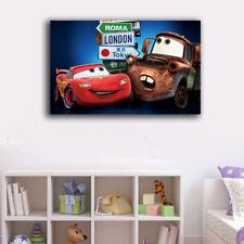60×100×3cm Framed Canvas Prints Disney Car Cartoon Wall Art Home Decor Kids Gift