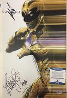 Becky G Signed 11x17 Photo Power Rangers BECKETT BAS Yellow Ranger